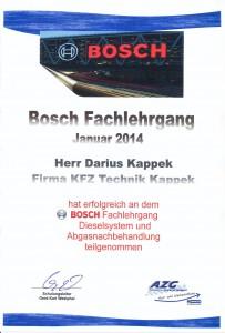 Bosch Dieselsystem und Abgasnachbehandlung